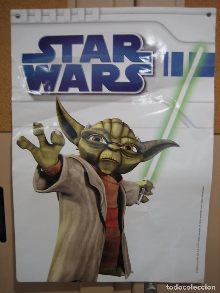 Cine: Póster de Star Wars 2008 a doble cara en cartulina gruesa 50x70 cm - Foto 5 - 69785369