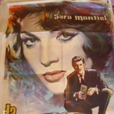 Cine: LA AMBICIOSA. SARA MONTIEL. CARTEL DE CINE- MOVIE POSTER. 100 X70 CM APROX. Lote 70172693