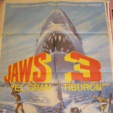 Cine: TIBURON 3. JAWS 3. CARTEL DE CINE - MOVIE POSTER. 100X70 CM APROX. Lote 70245265