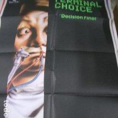 Cine: PÓSTER DE CINE ORIGINAL DE 100X70CM TERMINAL CHOICE. Lote 70456301
