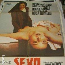 Cine: PÓSTER DE CINE ORIGINAL DE 100X70CM SEXO SANGRIENTO. Lote 70456541