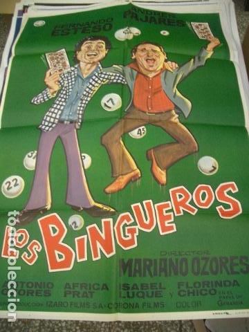PÓSTER DE CINE ORIGINAL DE 100X70CM LO BINGUEROS (Cine - Posters y Carteles - Comedia)