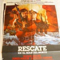 Cine: RESCATE EN EL MAR DEL NORTE. CARTEL DE CINE- MOVIE POSTER. 100X70 CM APROX. Lote 70552017