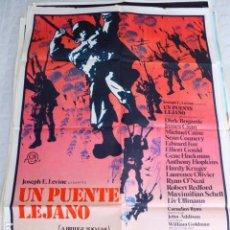 Cinema: UN PUENTE LEJANO. CARTEL DE CINE- MOVIE POSTER. 100X70 CM APROX. Lote 70552517