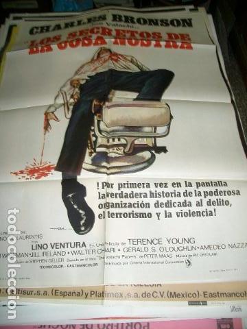 PÓSTER ORIGINAL DE 100X70CM LOS SECRETOS DE LA COSA NOSTRA (Cine - Posters y Carteles - Acción)