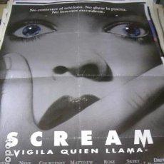 Cine: PÓSTER ORIGINAL DE 100X70CM SCREAM. Lote 71048981