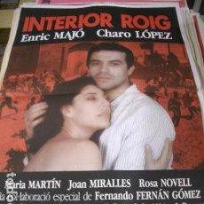 Cine: PÓSTER ORIGINAL DE 70X100CM INTERIOR ROIG. Lote 194995510