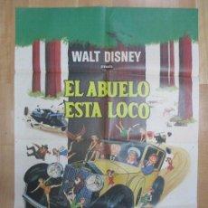 Cine: CARTEL CINE, EL ABUELO ESTA LOCO, WALT DISNEY, 1968, C942. Lote 71401235