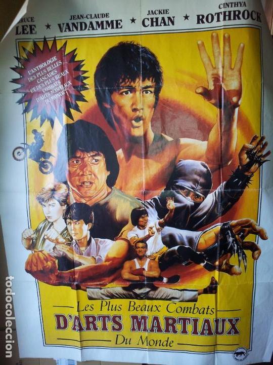 ENORME CARTEL 1,60 X 1,20 ARTES MARCIALES -BRUCE LEE-JEAN CLAUDE VANDAMME-JACKIE CHAN-ROTHROCK-1990 (Cine - Posters y Carteles - Acción)