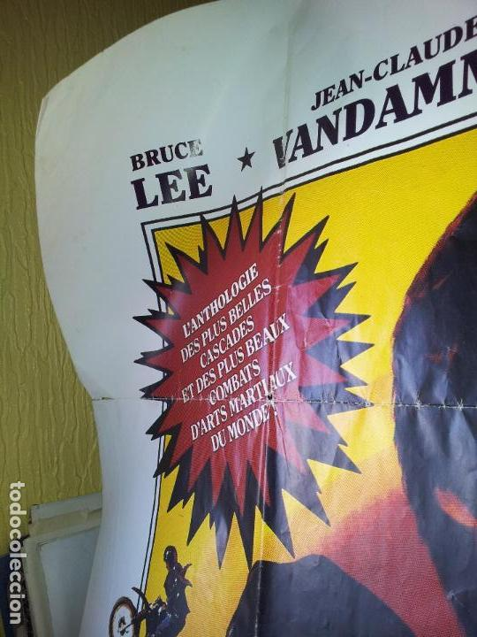 Cine: ENORME CARTEL 1,60 X 1,20 ARTES MARCIALES -BRUCE LEE-JEAN CLAUDE VANDAMME-JACKIE CHAN-ROTHROCK-1990 - Foto 8 - 71460447