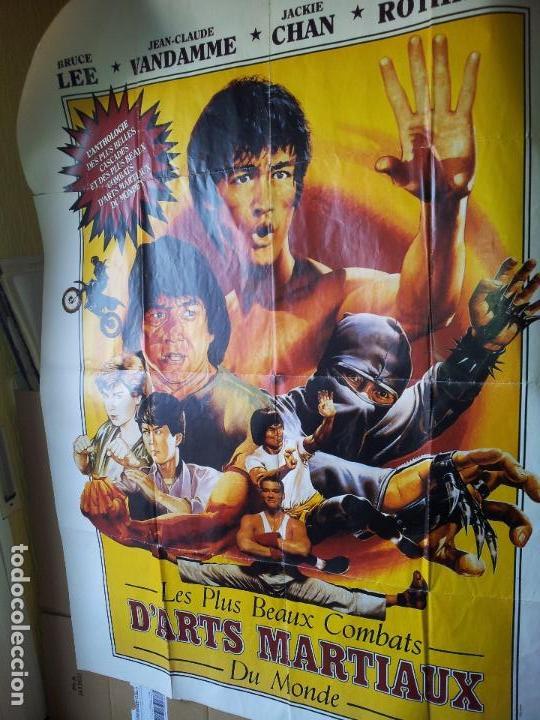 Cine: ENORME CARTEL 1,60 X 1,20 ARTES MARCIALES -BRUCE LEE-JEAN CLAUDE VANDAMME-JACKIE CHAN-ROTHROCK-1990 - Foto 10 - 71460447