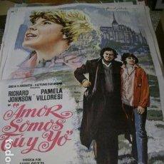 Cine: PÓSTER DE CINE ORIGINAL DE 70X100CM AMOR SOMOS TU Y YO. Lote 71658999