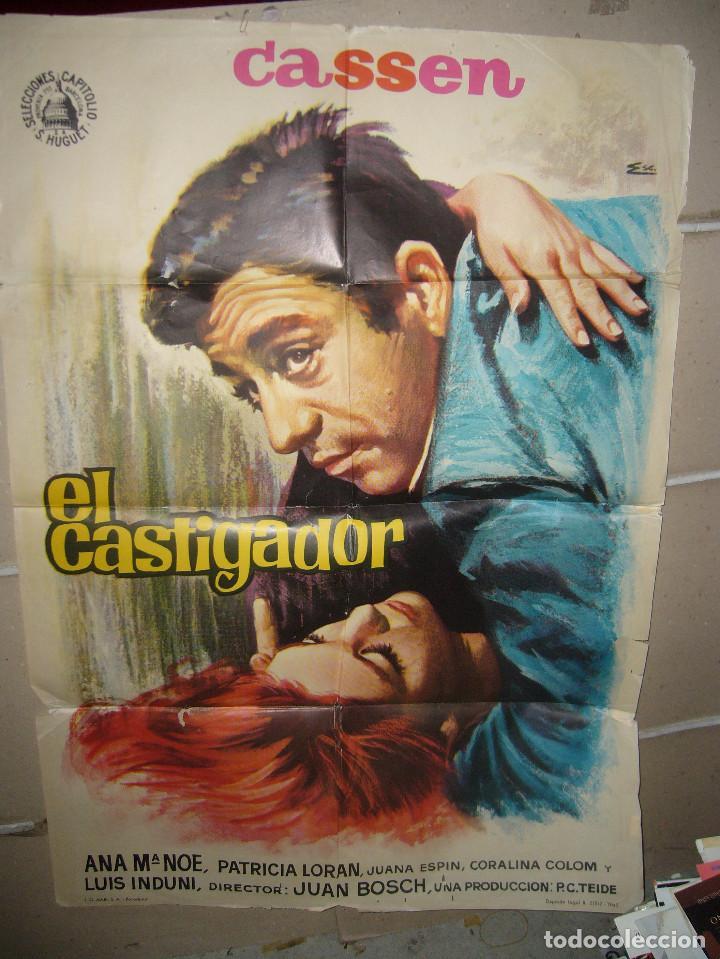 EL CASTIGADOR CASSEN POSTER ORIGINAL 70X100 YY(1484) (Cine - Posters y Carteles - Clasico Español)