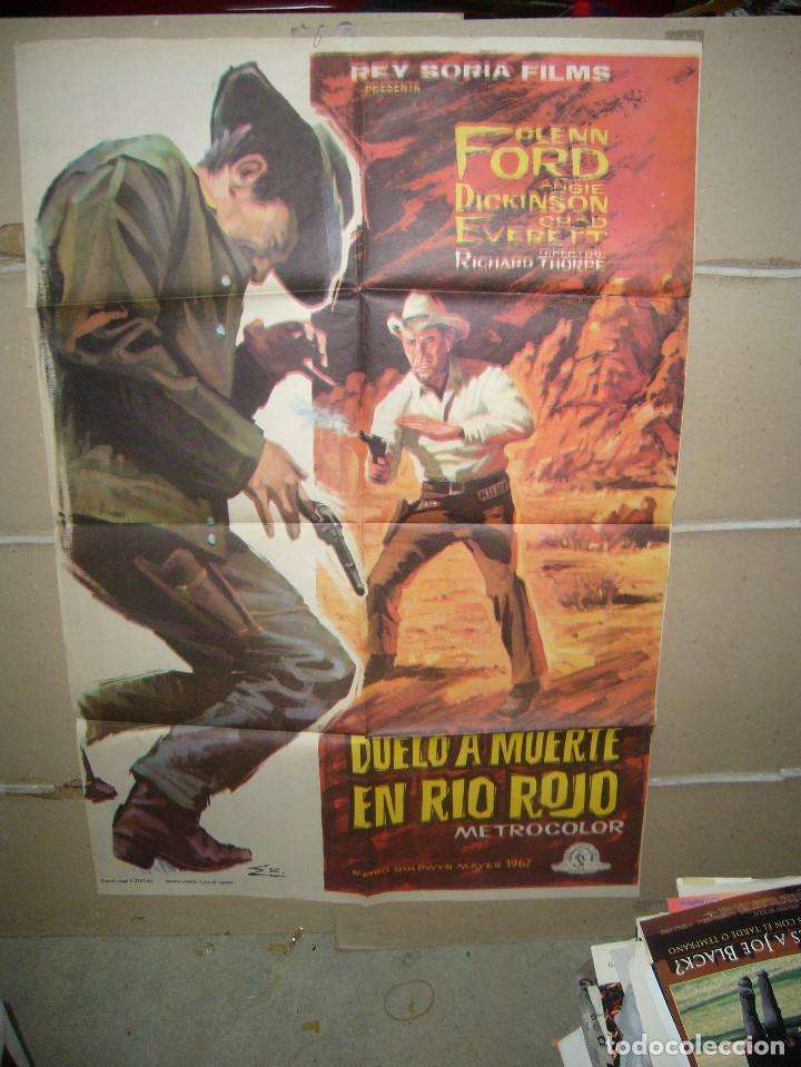 DUELO A MUERTE EN RIO ROJO GLENN FORD ANGIE DICKINSON POSTER ORIGINAL 70X100 YY(1490) (Cine - Posters y Carteles - Westerns)