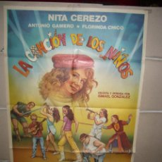 Cine: LA CANCION DE LOS NIÑOS NITA CEREZO POSTER ORIGINAL 70X100 YY(1493). Lote 72088947