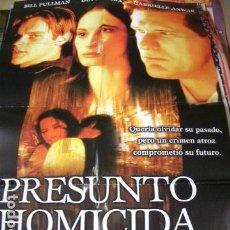 Cine: PÓSTER ORIGINAL 70X100CM PRESUNTO HOMICIDA. Lote 72106691