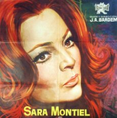 Cine: VARIETES. SARA MONTIEL - VICENTE PARRA - CARTEL ORIGINAL 1971. 100X70. Lote 72318135