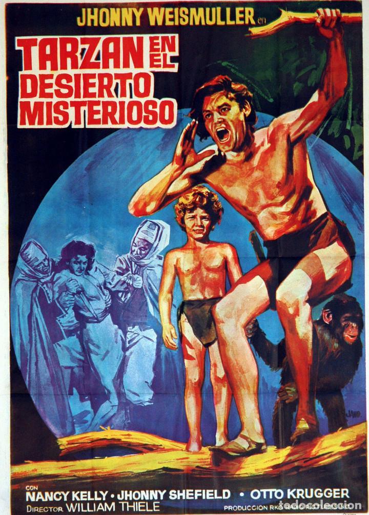 TARZÁN EN EL DESIERTO MISTERIOSO. JOHNNY WEISSMULLER. CARTEL ORIGINAL 1971. 100X70 (Cine - Posters y Carteles - Aventura)
