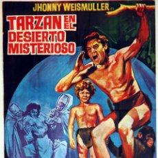 Cine: TARZÁN EN EL DESIERTO MISTERIOSO. JOHNNY WEISSMULLER. CARTEL ORIGINAL 1971. 100X70. Lote 72348247