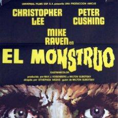 Cine: EL MONSTRUO. CHRISTOPHER LEE - PETER CUSHING. CARTEL ORIGINAL 1972. 100X70. Lote 72349471