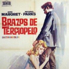 Cine: BRAZOS DE TERCIOPELO. ANN MARGRET. CARTEL ORIGINAL 1965. 100X70. Lote 72349803
