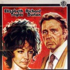 Cine: SE DIVORCIA ÉL, SE DIVORCIA ELLA. ELIZABETH TAYLOR - RICHARD BURTON. CARTEL ORIGINAL 1974. 100X70. Lote 72349939