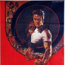 Cine: DURO DE PELAR. CLINT EASTWOOD. CARTEL ORIGINAL 1979. 100X70. Lote 72350139