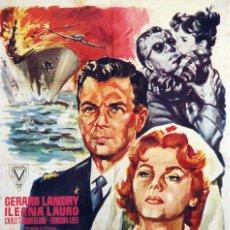 Cine: HORIZONTE EN LLAMAS. CARTEL ORIGINAL 1960. 100X70. Lote 72391991