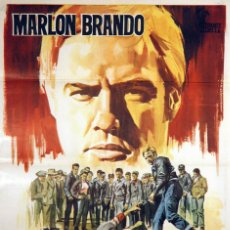 Cine: SALVAJE. MARLON BRANDO - LEE MARVIN. CARTEL ORIGINAL 1968. 100X70. Lote 72393103