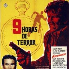 Cine: 9 HORAS DE TERROR. JOSÉ FERRER. CARTEL ORIGINAL 1963. 100X70. Lote 72395991