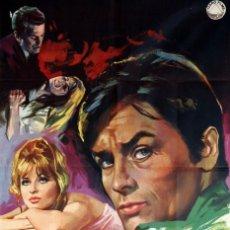 Cine: DIABÓLICAMENTE TUYO. ALAIN DELON - SENTA BERGER. CARTEL ORIGINAL 1968. 100X70. Lote 72399099