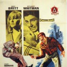 Cine: EL SINDICATO DEL CRIMEN. CARTEL ORIGINAL 1962. 100X70. Lote 72401627