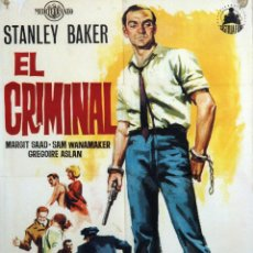 Cine: EL CRIMINAL. JOSEPH LOSEY. CARTEL ORIGINAL DE 1960. 70X100. Lote 72661671
