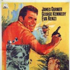 Cine: FIEBRE DE CODICIA. JAMES GARNER. CARTEL ORIGINAL 1968. 70X100. Lote 72666431