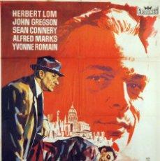 Cine: LA CIUDAD BAJO EL TERROR. SEAN CONNERY. CARTEL ORIGINAL 1962. 70X100. Lote 72678667