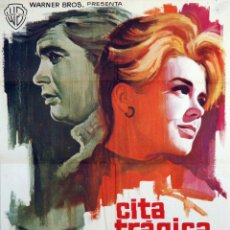 Cine: CITA TRÁGICA. CARTEL ORIGINAL 1965. 70X100. Lote 72682435
