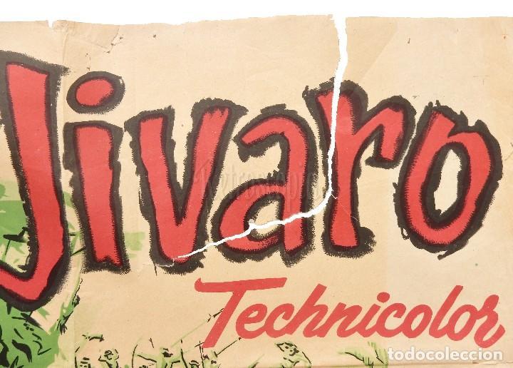Cine: CARTEL POSTER ORIGINAL *JIVARO* FERNANDO LAMAS RHONDA FLEMING. EDWARD LUDWIG - JANO - Foto 2 - 72702107