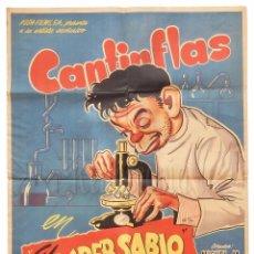 Cine: CARTEL POSTER ORIGINAL *EL SUPERSABIO* MARIO MORENO CANTINFLAS. MIGUEL M. DELGADO . Lote 72703259