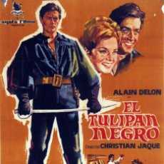Cine: EL TULIPÁN NEGRO. ALAIN DELON - VIRNA LISI. CARTEL ORIGINAL 1964. 70X100. Lote 72780707