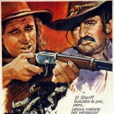 Cine: CON FURIA EN LA SANGRE. RICHARD HARRIS - ROD TAYLOR. CARTEL ORIGINAL 1974. 70X100. Lote 72787119