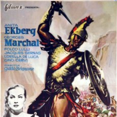 Cine: BAJO EL SIGNO DE ROMA. ANITA EKBERG. CARTEL ORIGINAL 1961. 100X70. Lote 72802699