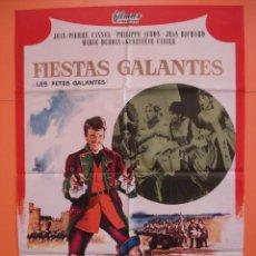 Cine: CARTEL - POSTER CINE (70X 100 CM)- FIESTAS GALANTES - JEAN PIERRE CASSEL - AÑO 1966... R- 4434. Lote 72835759