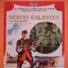 Cine: CARTEL - POSTER CINE (70X 100 CM)- FIESTAS GALANTES - JEAN PIERRE CASSEL - AÑO 1966... R- 4435. Lote 72836423