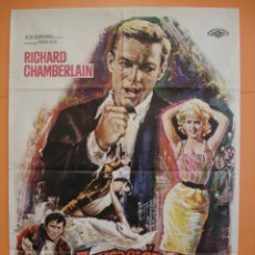 Cine: CARTEL -POSTER CINE (70X 100 CM)- ACUSACION DE ASESINATO - RICHARD CHAMBERLAIN - AÑO 1963... R- 4438. Lote 72844087