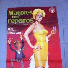 Cine: CARTEL DE CINE 70X100 ORIGINAL MAYORES CON REPAROS CON ANALIA GADE Y FERNADO FERNAN GOMEZ . Lote 72844967