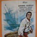 Cine: CARTEL - POSTER CINE - TORMENTA SOBRE EL PACIFICO - GERARD BARRAY - AÑO 1967... R- 4439. Lote 72845115