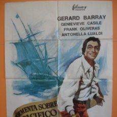 Cine: CARTEL - POSTER CINE (70X 100 CM)- TORMENTA SOBRE EL PACIFICO - GERARD BARRAY - AÑO 1967... R- 4439. Lote 72845115