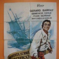 Cine: CARTEL - POSTER CINE (70X 100 CM)- TORMENTA SOBRE EL PACIFICO - GERARD BARRAY - AÑO 1967... R- 4440. Lote 72847219