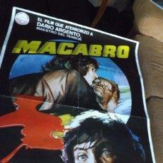 Cine: POSTER PELICULA MACABRO, ORIGINAL 70X100 CM.. Lote 72888043