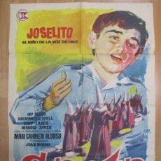 Cine: CARTEL CINE, SAETA DEL RUISEÑOR, JOSELITO, ANTONIO DEL AMO, JANO, 1958, C975. Lote 72903511